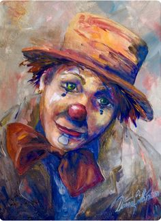 Hobo Clown Painting Home Special Deals Abstracts Clowns in house painting deals Circus Clown, Circus Theme, Circus Party, Image Halloween, Halloween Photos, Halloween Costumes, Clown Paintings, Clown Tattoo, Vintage Clown