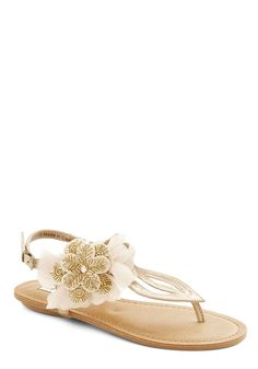 Romance Realized Sandal. At first, your beachside stroll seemed like any other. #gold #modcloth