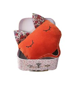Super cute for kids room! Fun Foxy Cushion/Pillow by @LauraJaneParis on #Etsy #homedecor #kids