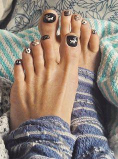 navidad diseño uñas pies