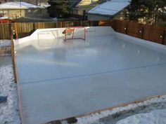 How to build a backyard ice hockey rink.