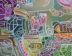 Original Abstract Painting by Davs