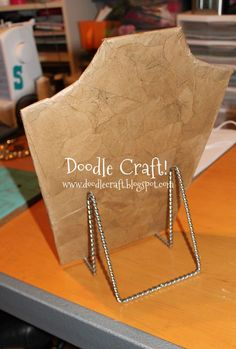 Doodle Craft...: Make a Necklace Display Form