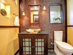 Wandfarbe und Mosaik Fliesen im Bad kombinieren Tuscan Bathroom Decor, Brown Bathroom Decor, Bathroom Colors, Bathroom Styling, Bathroom Ideas, Bathroom Art, Small Bathroom, Bathroom Designs, Bathroom Remodeling