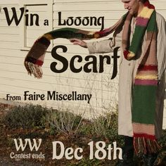 Win a Dr Who style Scarf