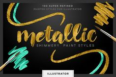 Shimmery Gold Styles for Illustrator by Creators Couture on @creativemarket