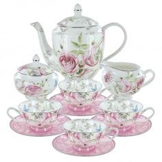 Beau Rose Bone China Tea Set English Tea Store