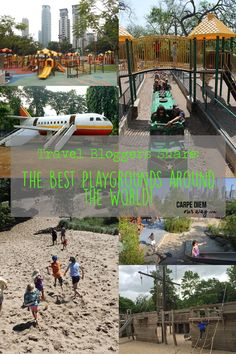 Family Travel Bloggers share their favorite playgrounds in this post on our series of the best playgrounds around the world!