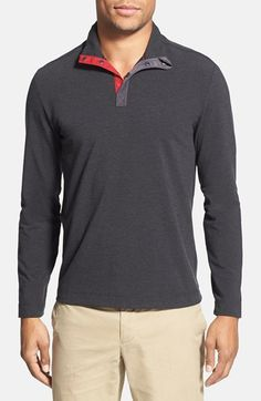 Victorinox Swiss Army® Slim Fit Mock Neck Cocona® Polo Shirt (Online Only) available at #Nordstrom