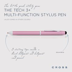 Meet our incredible all-in-one switch hitter: the Tech 3+ Multi-Function Stylus Pen (available in multiple colors)
