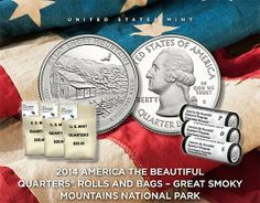 2014 America the Beautiful Quarters Rolls and Bags - Great Smoky Mountains National Park