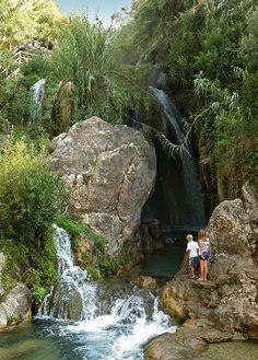 Waterfalls at les fonts de l'Algar_ Spain
