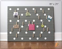 Bulletin Board Memo Holder Office Organizer Gift For by ChicMango