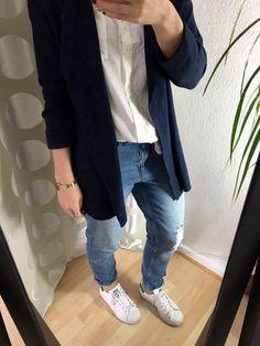 Boyfriend Jeans White Shirt