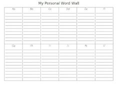Personal Word Wall...perfect for writer's notebook!