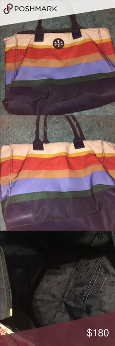 💜TORY BURCH ELLA TOTE💜 Authentic foldable Tory Burch Ella tote! Nylon! Lightweight! center zip! New without tags! NO Damages or sign of wear and tear! 🎀🎀🎀🎀 Tory Burch Bags Totes