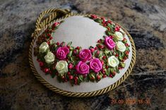 Silk Ribbon For Embroidery 5 Yards- Embroidery Design Guide Rose Embroidery, Silk Ribbon Embroidery, Embroidery Thread, Embroidery Designs, Ribbon Art, Romantic Roses, Pin Cushions, Cross Stitch Patterns, Needlework