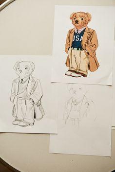 Exclusive: This Ralph Lauren Polo Bear Is Already a Fan Favorite Ralph Lauren Style, Polo Ralph Lauren, Cartoon Theories, Ralph Laurent, Bear Drawing, Woven Belt, Bear Art, Almost Always, Graphic Design Inspiration