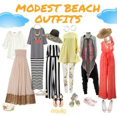 Dressing for the beach? Farrah Eman picks out great coordinates that are stylish, comfortable and modest.
