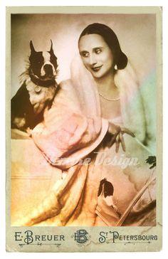 Portrait of Anna Pavlova - Russian prima ballerina - with her Boston Terrier Poupée (Madame d'Ora, Anna Pavlova, Boston Terrier Love, Boston Terriers, Vintage Dog, Dog Photos, Mans Best Friend, Puppy Love, Best Dogs, Fur Babies