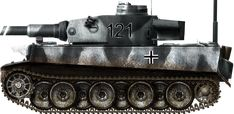 Tiger Ausf H, Russia january 1943, Tiger Ausf. H Frühes Modell mit Snorkel, Schwere Panzer Abteilung 501, Russia, January 1943.