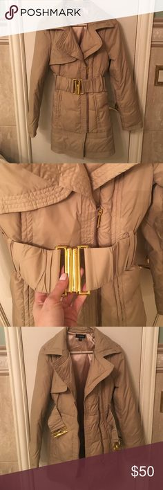 Nylon BeBe Winter Coat Never worn in brand new condition bebe Jackets & Coats