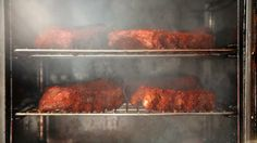 Smoking memphis style dry baby back ribs that were par cooked sous vide.