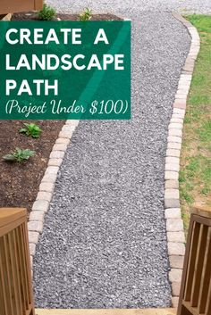Creating a gravel walkway landscape design - could be to the front door or a path to the garden to keep grass growing outside of traffic areas in the yard. Front Walkway Landscaping, Rock Walkway, Gravel Walkway, Outdoor Walkway, Backyard Landscaping, Landscaping With Gravel, Front Yard Walkway, The Ranch, Garden Paths