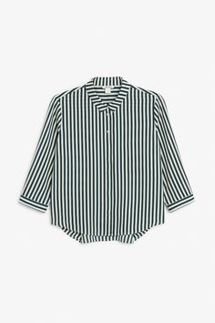 01b7077c6adc Flowy pleat back blouse - Striped to perfection - Tops - Monki