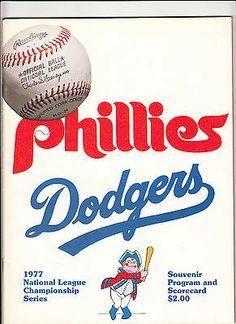 1977 Phillies National League Championship Series vs. Dodgers Program Scorecard NLCS Phillies Baseball, Philadelphia Sports, Baseball Photos, National League, Dodgers, Programming, Mlb, Magazine, Fan Gear