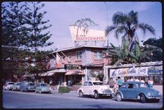 The Beachcomber & Jolly Roger Nite Club, Surfer's Paradise - 1963 Photo credit T. Gold Coast Queensland, Brisbane Gold Coast, Gold Coast Australia, Brisbane City, Queensland Australia, Melbourne, Great Places, Places To Visit, Family Holiday Destinations