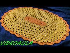 NÃO FAÇA TAPETE OVAL ANTES DE VER ESSE VÍDEO - YouTube Crochet Table Mat, Crochet Carpet, Pot Holders, Rugs, Diy, Youtube, Home Decor, Tablecloths, Needlepoint