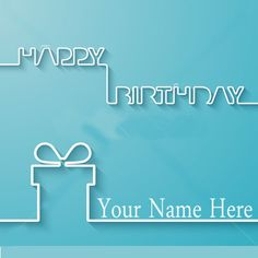Write Your Name On Simple Birthday Card Online Free
