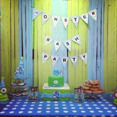 monsters inc cakes on pinterest | Little A's Monster Inc. Party – Dessert Table | Diary of a newbie ...