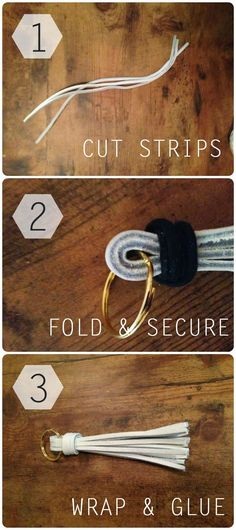 DIY Leather Tassel Key Chain #KeyChainsdiy