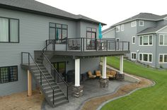 View pictures of our recent deck projects in Fargo-Moorhead. Premium Decks can help you design, build or repair the perfect deck for your home! Under Deck Landscaping, Patio Under Decks, Decks And Porches, Landscaping Ideas, Deck Building Plans, Deck Plans, Second Story Deck, Deck Framing, Deck Makeover