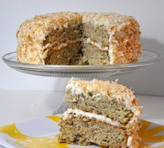 Vegan Banana Cake with Coconut Cream Cheese Frosting...yum!!
