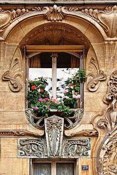 A lovely window in Paris.....