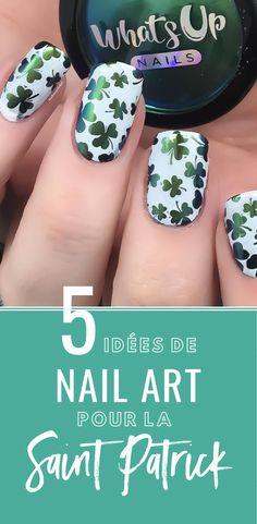 Pour célébrer la fête irlandaise du Saint Patrick's Day, voici des idées de nail art. Sortez vos vernis verts, blancs et dorés, pour réaliser une manucure sur ce thème.#monvanityideal #nailart #saintpatrick #ongles #inspiration #vernis #manucure