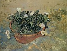 alongtimealone:  (via All sizes | 1888 Van Gogh Still Life,Bowl with Daisies | Flickr - Photo Sharing!)