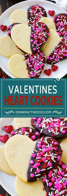 Heart Cookies Recipe | Heart Sugar Cookies | Valentine's Day Cookies | Heart Shaped Sugar Cookies | Valentine's Day Dessert