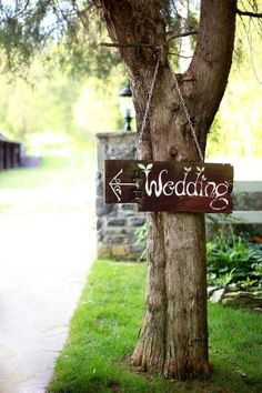 Love the wedding sign