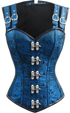 The Violet Vixen - Double-Barreled Tinker Sky Storm Corset, $140.00 (http://thevioletvixen.com/authentic-corsets/double-barreled-tinker-sky-storm-corset/)