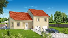 Maisons VESTA :  Modèle Montana (demi-niveau) type F5 96 m² + surface annexe 47 m² (combles en option) Nebraska, Hillside House, Montana, Surface Habitable, Small House Design, Good Company, Facade, House Styles, Outdoor Decor