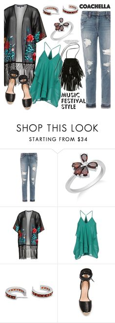 """""""Hot Coachella Style"""" by blossom-jewels ❤ liked on Polyvore featuring Joe's Jeans, House of Magpie, Minimum, Raye, Yves Saint Laurent, contestentry, Blossomjewels and bestofcoachella"""