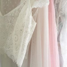 Bridal pieces hangin