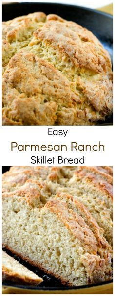 Easy Parmesan Ranch Skillet Bread from Crunchy Creamy Sweet blog