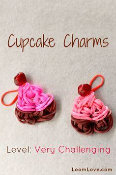 How to Make a Cupcake Charm #kids #crafts #stretchband #loopband #loombracelet