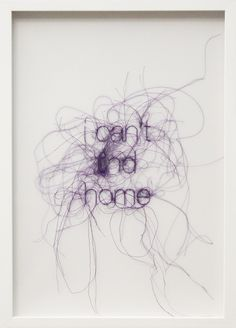 Sara Al Haddad, I can't find home, from 'Filling Holes' series, 2012 – embroidery on polyester film paper, 44x32 cm