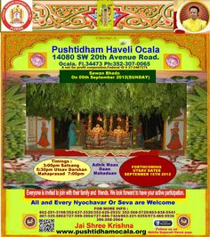 All of you are invited to attend this utsav on the 9th of sep 2012 with your friends and family